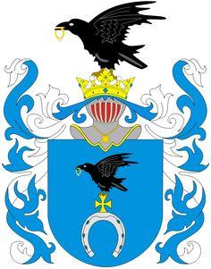 Royalty Slepowron Coat of Arms of my szlachta maternal families:   Danowski. Klimaszewski, Kownacki  (1224 origin)