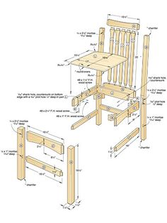 diy rustic furniture plans. Dining Chair Woodworking Plan #seats #wood Diy Rustic Furniture Plans T