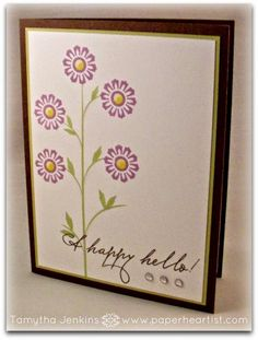 """Paper HeARTIST: February's Stamp of the Month Blog Hop...""""A Happy Hello"""""""