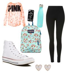 7th grade by kaileyknaak on Polyvore featuring polyvore fashion style Topshop Converse JanSport New Look Mr. Gugu & Miss Go S'well clothing