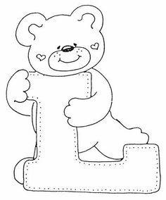 Letter L coloring page | Coloring pages
