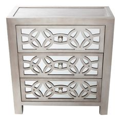 Found it at AllModern - Glam Slam 3 Drawer Mirror Chest