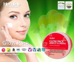 #Glowpack is an exclusive product by #Herbline which has a unique combination of Dried #Apricot which is good Source of anti-oxidant and helps to remove free radicals from #skin, #Aloevera has a healing effect on the skin  and Jojoba helps your skin remain hydrated provides all round protection for your face in this summer #Closetonature Product: GlowPack Apricot & papaya Weight: 50 gram