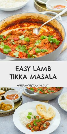 Who says tikka masala has to be made with chicken? This delicious LAMB tikka masala is quick and easy to prepare and tastes AMAZING! Plus, it's cheaper and healthier than a takeaway. Use fresh diced lamb or roast lamb leftovers. Leftover Lamb Curry, Leftover Roast Lamb, Lamb Tikka Masala, Healthy Comfort Food, Healthy Meals, Easy Dinner Recipes, Leftovers Recipes, Easy Dinners