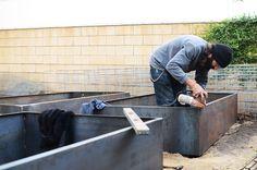 cor-ten steel garden beds - CAKIES