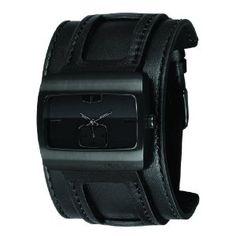 Vestal Men's SN032 Saint All Black Leather Watch