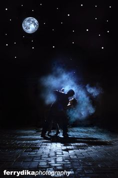 dancing under the moon