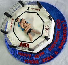 UFC Fighting Ring 45th Birthday Cake
