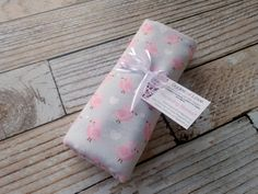 Extra Large Receiving Blanket, Cotton Flannel Swaddling Rolled Hem Serged Edge, Girl, Light Pink Birds on Soft Gray, Light Weight