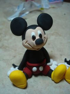 Mickey Mouse Clay Figurine. $18.00, via Etsy.