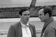 1967 Clark and Amon at Indianapolis Raceway.