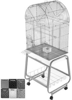 A&E Cage 701 Platinum Opening Dome Top, Plastic Base, Metal Stand the separates
