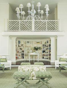 "Hamptons Cottages & Gardens - August 1 2013 - Hamptons,  Sagaponack restored Quaker Meeting House.  Kirschenbaum told his designer ""1940s Palm Beach"""