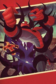 Spider-Man & The Human Torch 1 Shot by Juan Doe, via Behance