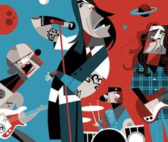 The Rolling Stones by Pablo Lobato