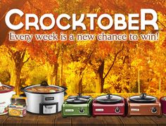 Enter Crock-Pot® Slow Cooker's Crocktober Giveaway for your chance to win exciting prizes all month long! Visit https://a.pgtb.me/lWFZ7P to enter. #CrockPot #SlowCooker #Crocktober #giveaway