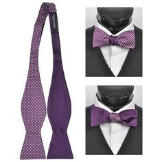 $11, Purple 100% Silk Woven Freestyle And Reversible Bow Tie Frbs1010 by Selini. Sold by buy.com. Click for more info: http://lookastic.com/men/shop_items/64598/redirect