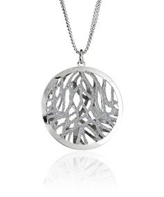 Look what I found on #zulily! Sterling Silver Glitter Branch Pendant Necklace #zulilyfinds