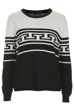 Aztec Knit Sweater - Knitwear - Clothing - Topshop