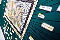 String map art DIY   Omaha, Nebraska – http://truebluemeandyou.com/2012/03/diy-string-map-art/