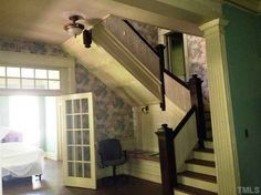 stairs in a 1912 Colonial Revival – Henderson, NC
