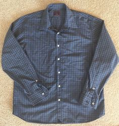 UNTUCKit Gingham Check Plaid Long Sleeve Button Down Cotton Shirt XL Extra Large #UNTUCKit #ButtonFront