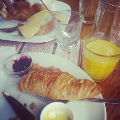 Croissant, jam + cheese. In amsterdam, may 2012