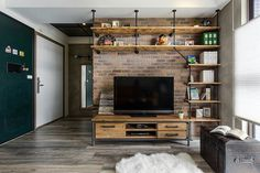 Новости project industrial apartment living room home theate Industrial Interior Design, Industrial Apartment, Vintage Industrial Decor, Industrial House, Industrial Interiors, Deco App, Home Projects, Living Room Designs, House Plans