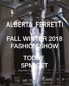 """Be prepared to be awed by the #AlbertaFerretti Fall Winter 2018 collection showing today 21st February at 5:00PM CET at Rotonda della Besana, Milan. Live streaming on facebook and instagram, stay tunned!  Here a sneak peek of the venue depicting """"Gravity""""' a sculpture by Alberta Ferretti's friend Lorenzo Quinn.   #MFW #MFW18 #FW18"""