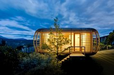 Fincube Structure located in Ritten by German studio Aisslinger (Südtirol, Italy)
