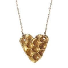This necklace takes the natural beauty of honeycomb and turns it into a lustrous work of wearable art.