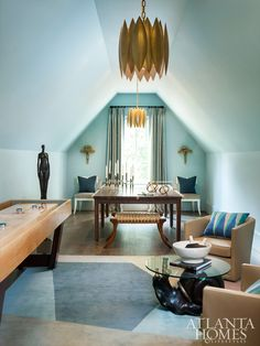 Photo by Erica George Dines Southeastern Show House Circa Lighting Hatton pendant