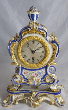 Antiques Atlas - Porcelain Mantel Clock