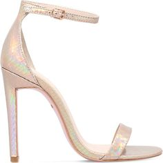 83ce281c483 Carvela Gatsby metallic heeled sandals ( 115) ❤ liked on Polyvore featuring  shoes