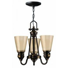 Hinkley Lightning Mayflower Three Light Chandelier from £243.00 with FREE delivery!