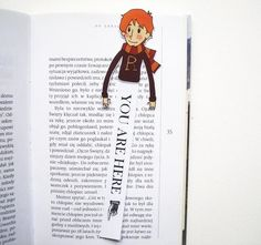 Ron Weasley bookmark Harry Potter by BigNerdWolf on Etsy Cumpleaños Harry Potter, Harry Potter Crochet, Harry Potter Artwork, Creative Bookmarks, Bookmarks For Books, Harry Potter Bricolage, Harry Potter Bookmark, Ron And Harry, Thor Cosplay