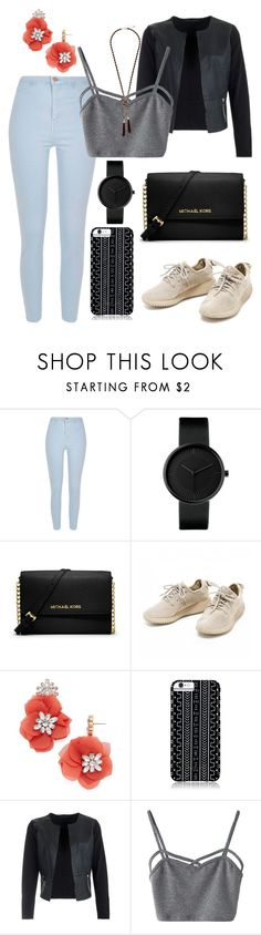 """""""Flute Sounds"""" by black-wings ❤ liked on Polyvore featuring River Island, MICHAEL Michael Kors, BaubleBar, Savannah Hayes, WithChic and GUESS"""