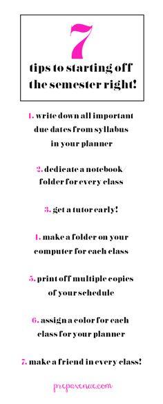 Starting a New Semester Tips | Prep Avenue