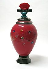 Art Glass Vessel by Ken Hanson and Ingrid Hanson