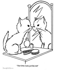 free printable cute kitten coloring page - Cute Coloring Pages Of Animals