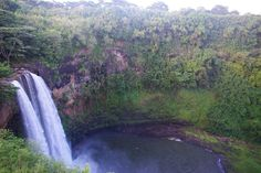 """Wailua Falls Attractions in Kauai:  Read reviews written by 10Best experts and explore user ratings. Many visitors recognize these twin falls as the ones pictured in the opening sequence of the """"Fantasy Island"""" TV show. Their dramatic, 80-foot double tumble is the subject of many tourist photographs, a distinct difference from the days when Hawaiian royalty dove from the cliffs as a sign of power and prowess. Although the falls' beauty waxes and wanes depending on rainfall, they're always a…"""