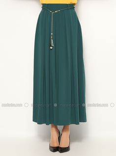 Pleated Skirt - Green - Jamila