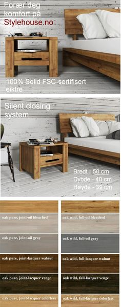 Bedside table CUBIC made of natural wood is a perfect match to our low bed CUBIC and low bed frame CUBIC. Low Bed Frame, Grey Oak, Perfect Match, Bedside, Natural Wood, Pure Products, Storage, Table, Furniture