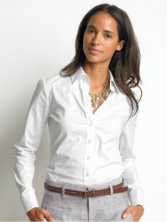 Crisp white shirt.  I am still looking for the perfect one.