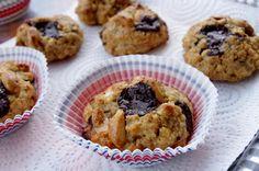 Cookies à la purée de cacahuètes, aux flocons de quinoa et pépites de chocolat noir - KiyaKuisine