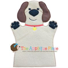 Dog Hand and Finger Puppet In The Hoop Machine by TheAppliquePlace, $4.00