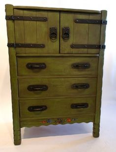 Vintage Monterey Furniture | Monterey Gentleman's Chest with two sliding drawers in the upper ...