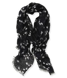 Black and white safari animal scarf from Aeropostale