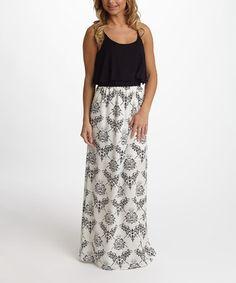 Look what I found on #zulily! Black Damask Maxi Dress #zulilyfinds $27