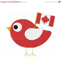 Canada Day - put a bird on it Summer Crafts, Summer Fun, Canadian Quilts, Canada Day Crafts, Canada Day Party, World Thinking Day, Happy Canada Day, Queen Birthday, Canada Images